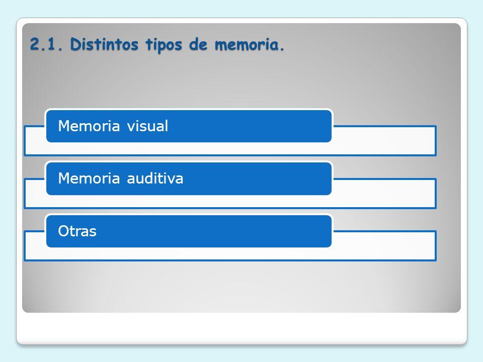 2.1. Distintos tipos de memoria.