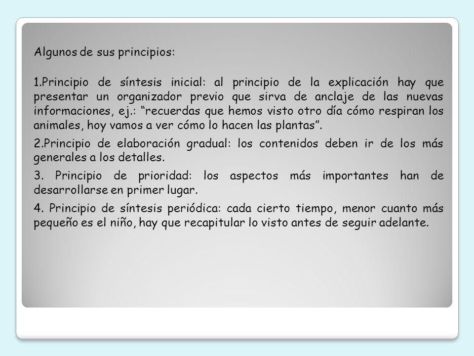 Algunos de sus principios: 1