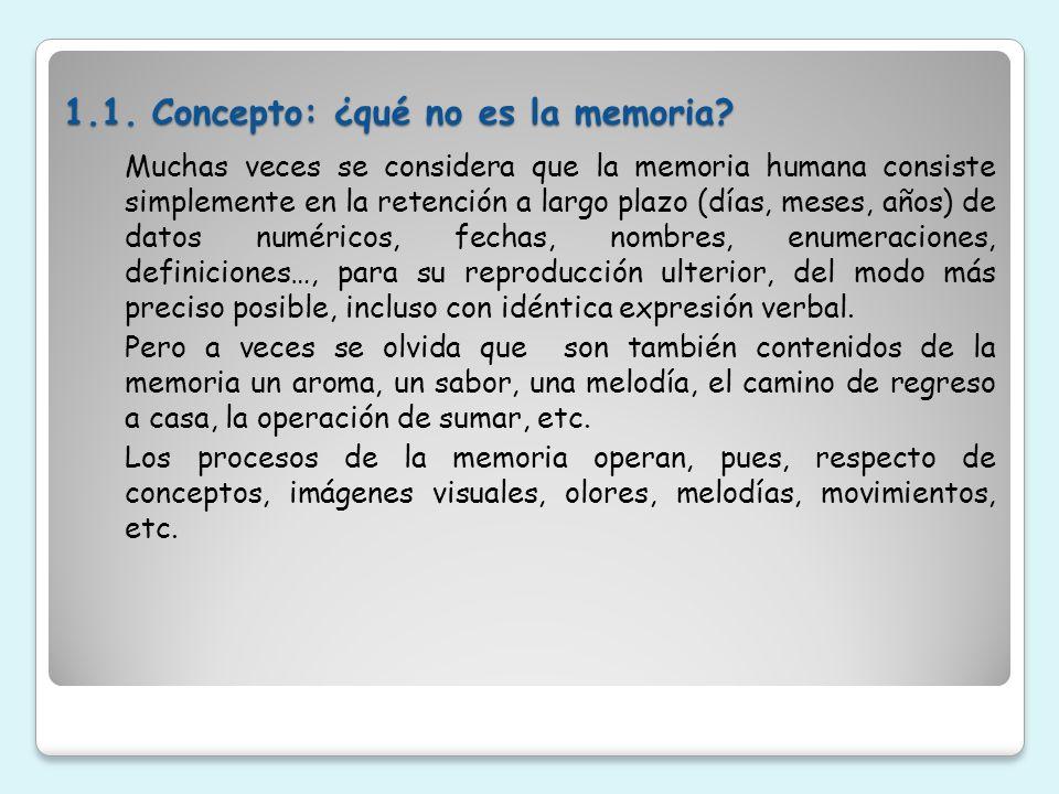 1.1. Concepto: ¿qué no es la memoria