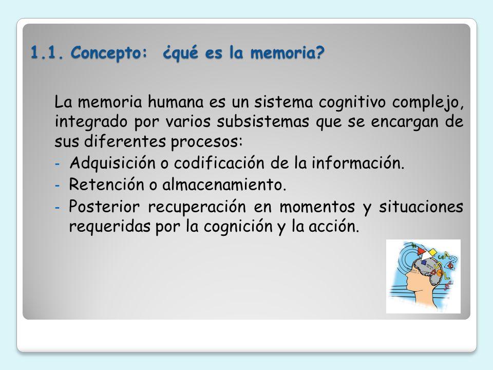 1.1. Concepto: ¿qué es la memoria