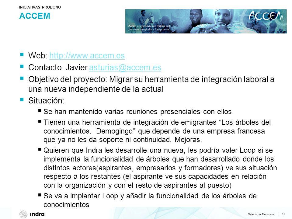 ACCEM Web: http://www.accem.es Contacto: Javier asturias@accem.es