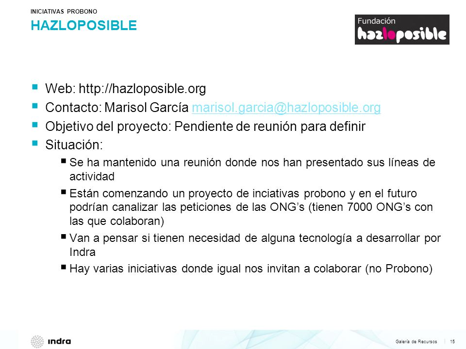 HAZLOPOSIBLE Web: http://hazloposible.org