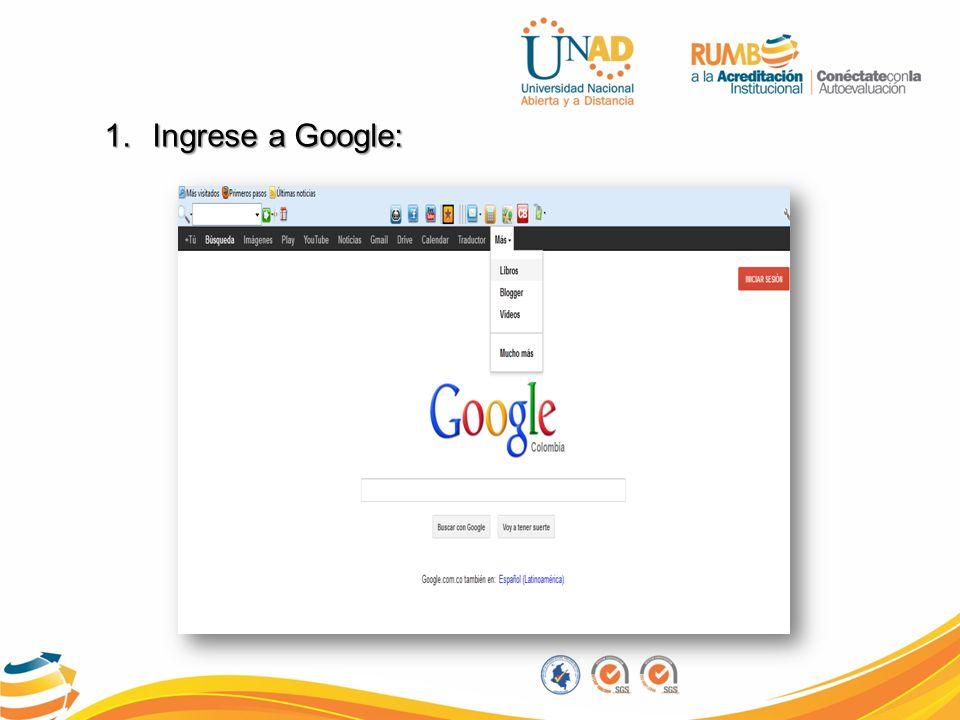 Ingrese a Google: