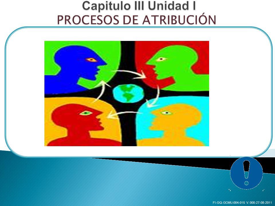Capitulo III Unidad I PROCESOS DE ATRIBUCIÓN