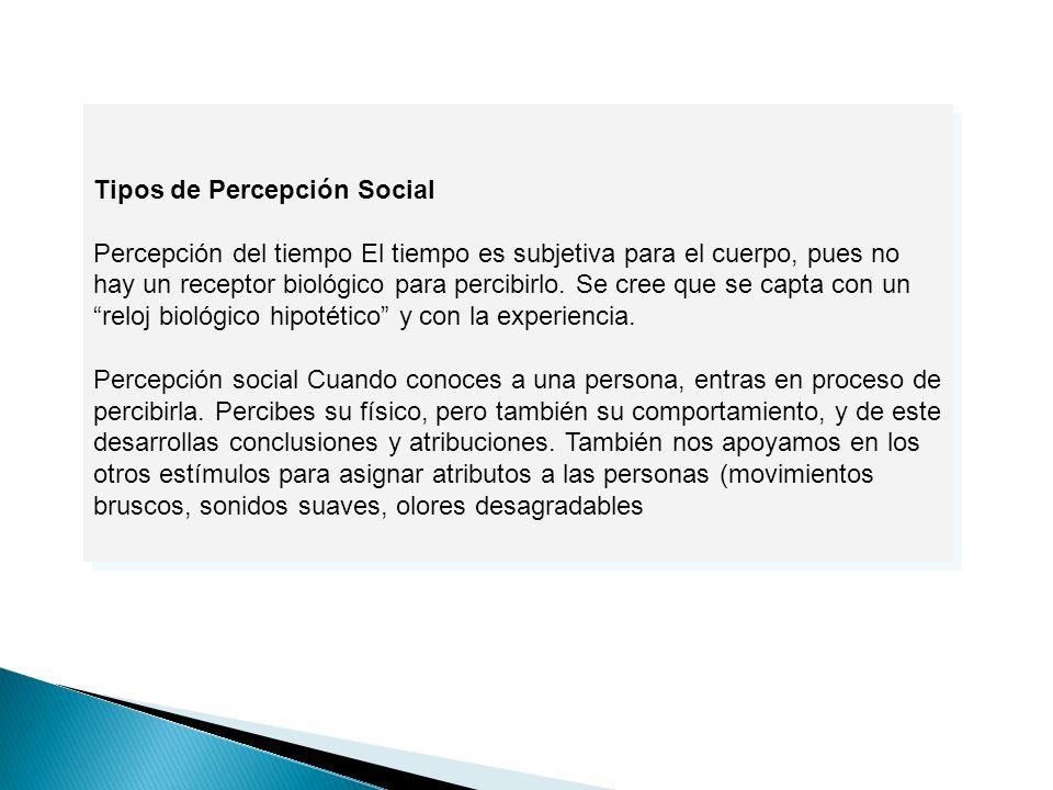 Tipos de Percepción Social