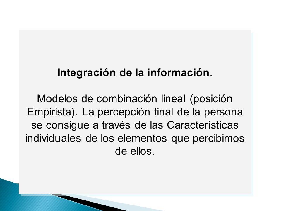 Integración de la información.