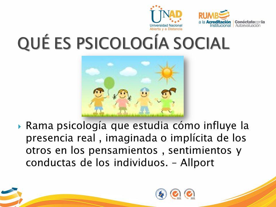 QUÉ ES PSICOLOGÍA SOCIAL