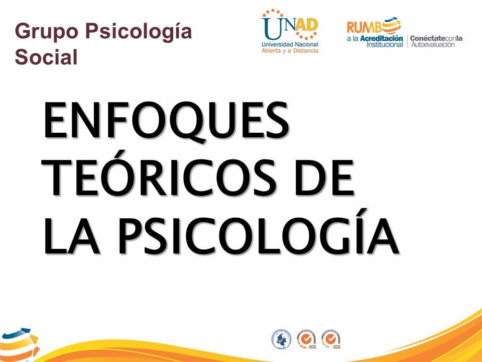 ENFOQUES TEÓRICOS DE LA PSICOLOGÍA