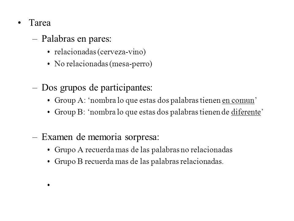 Dos grupos de participantes: