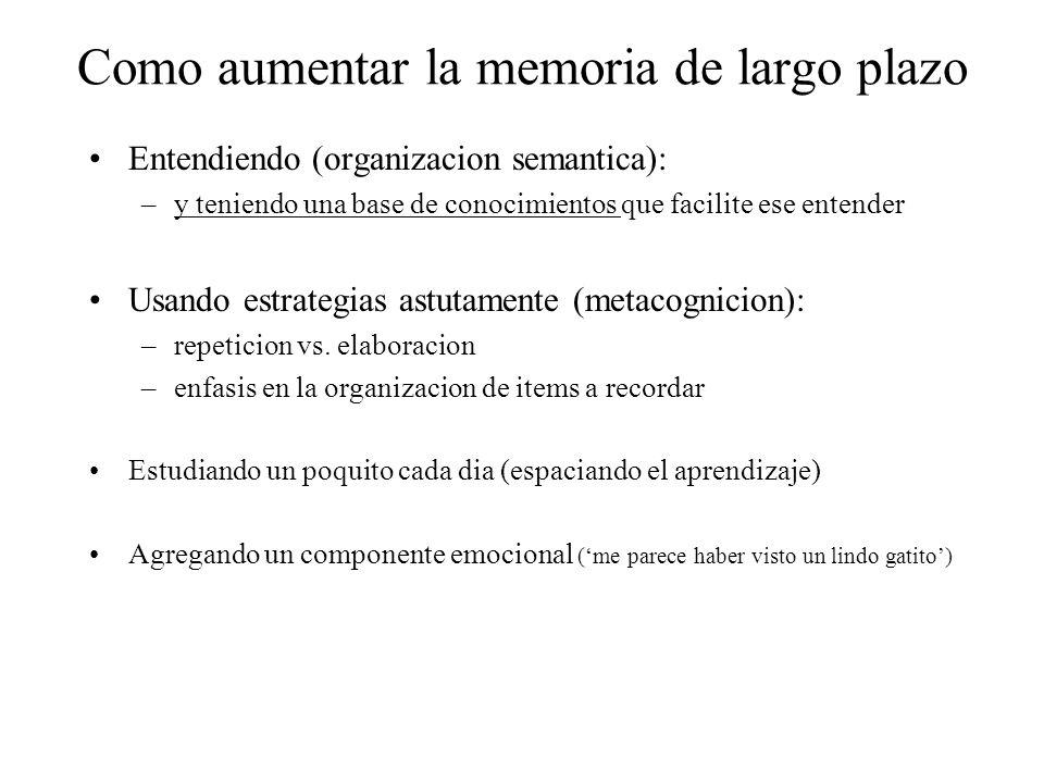 Como aumentar la memoria de largo plazo