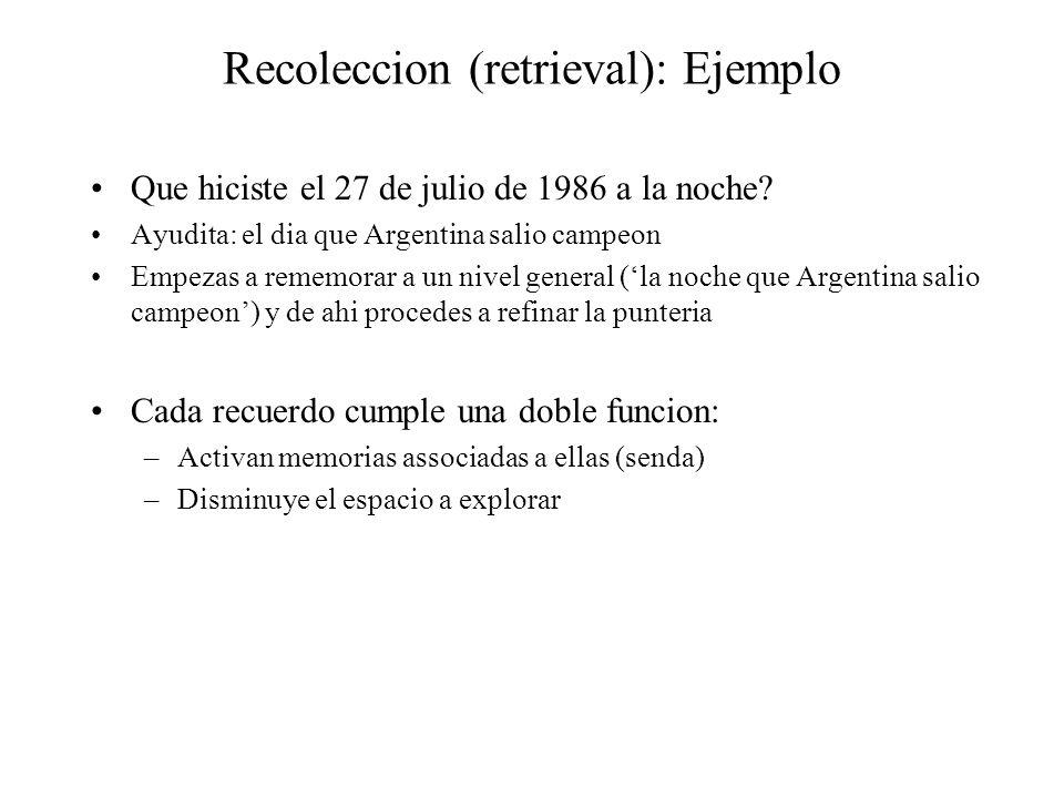 Recoleccion (retrieval): Ejemplo