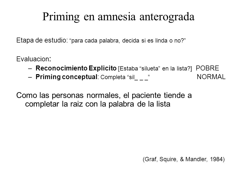 Priming en amnesia anterograda