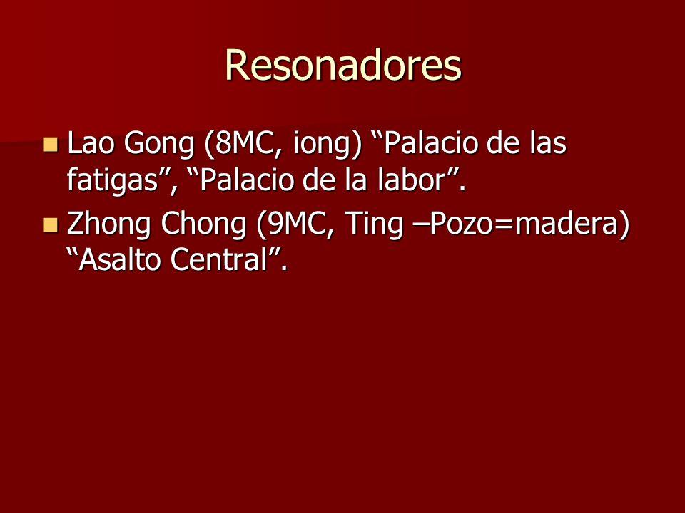 Resonadores Lao Gong (8MC, iong) Palacio de las fatigas , Palacio de la labor .