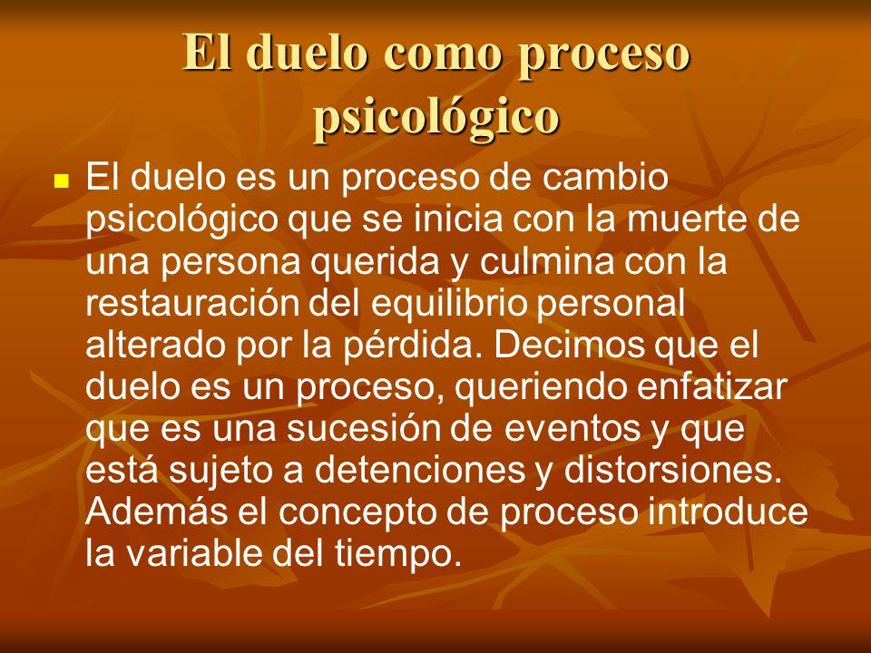 El duelo como proceso psicológico