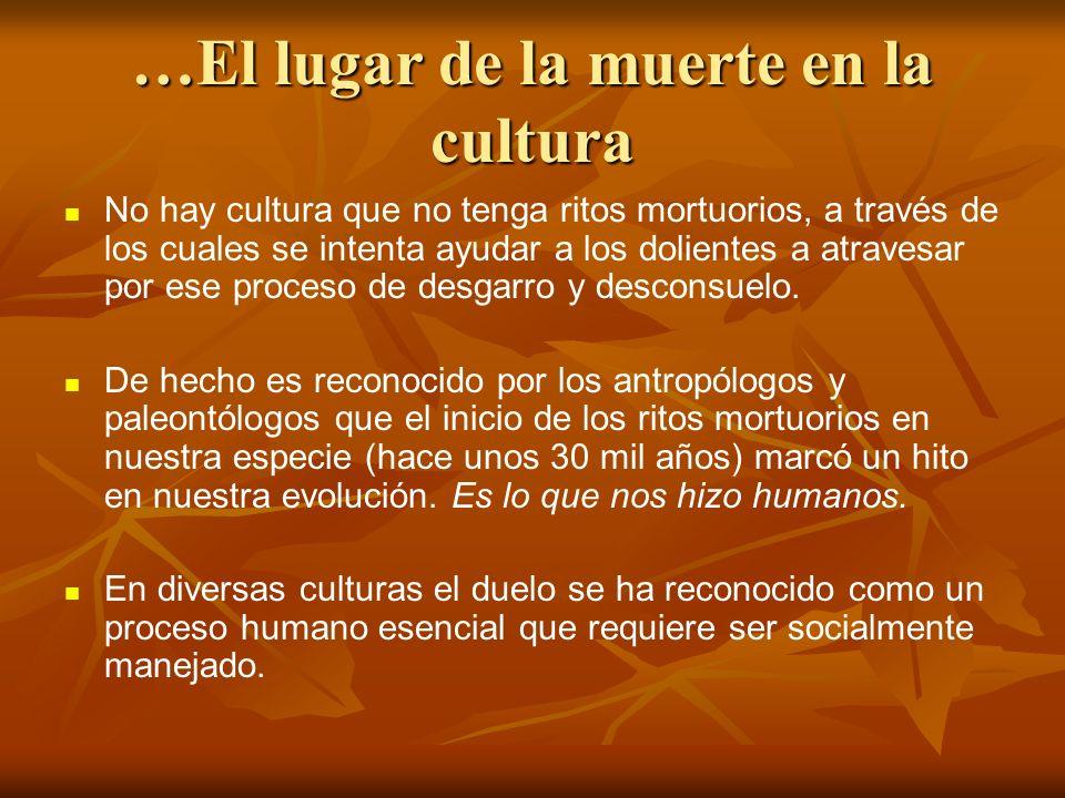 …El lugar de la muerte en la cultura