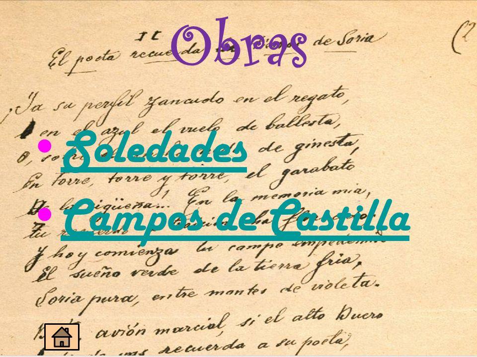 Obras Soledades Campos de Castilla