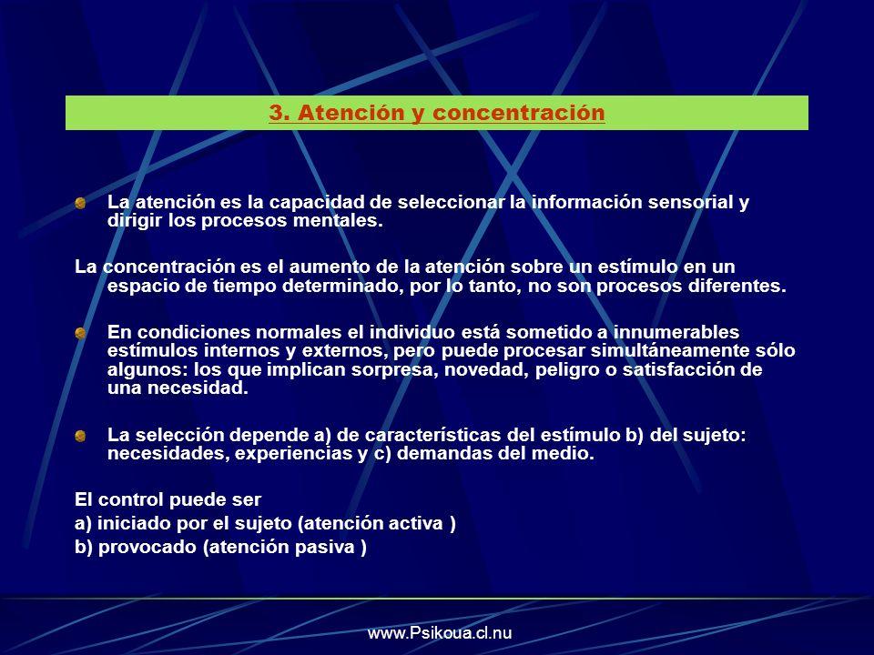 3. Atención y concentración