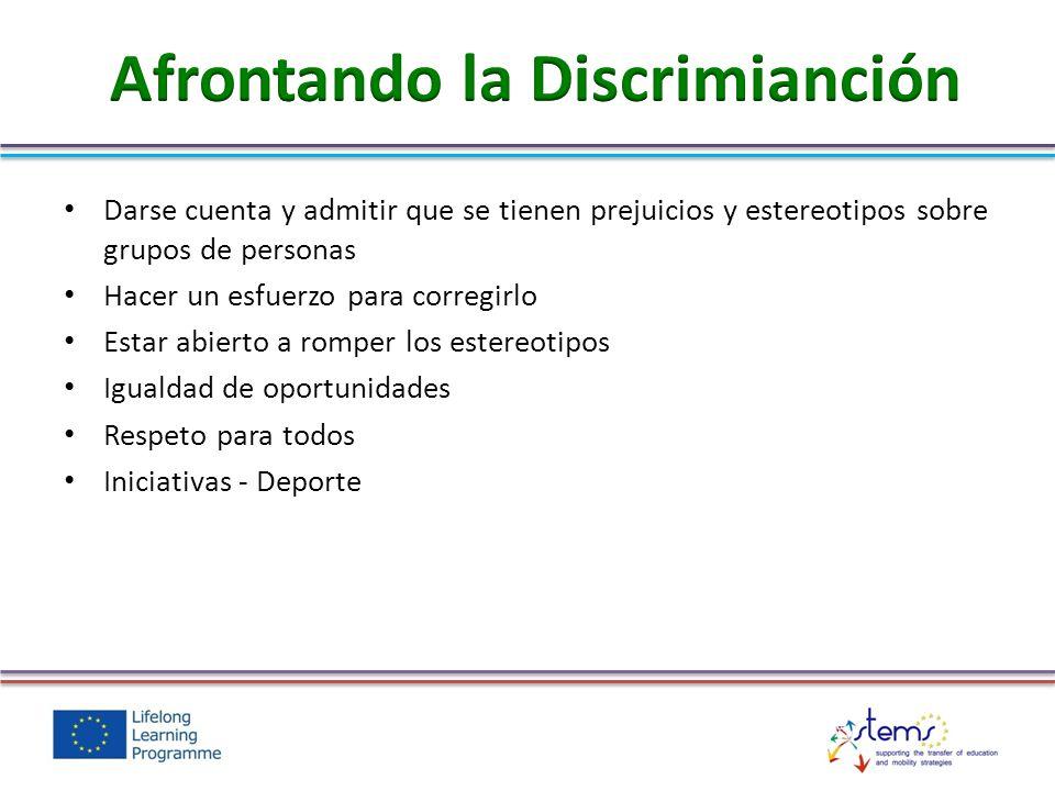 Afrontando la Discrimianción