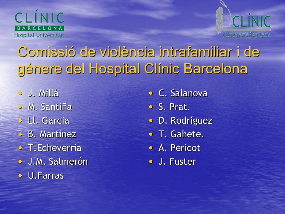 Comissió de violència intrafamiliar i de génere del Hospital Clínic Barcelona