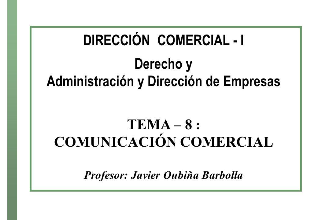 DIRECCIÓN COMERCIAL - I Derecho y