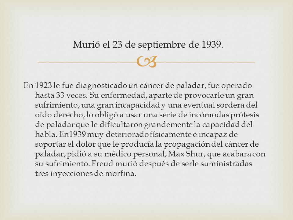 Murió el 23 de septiembre de 1939.
