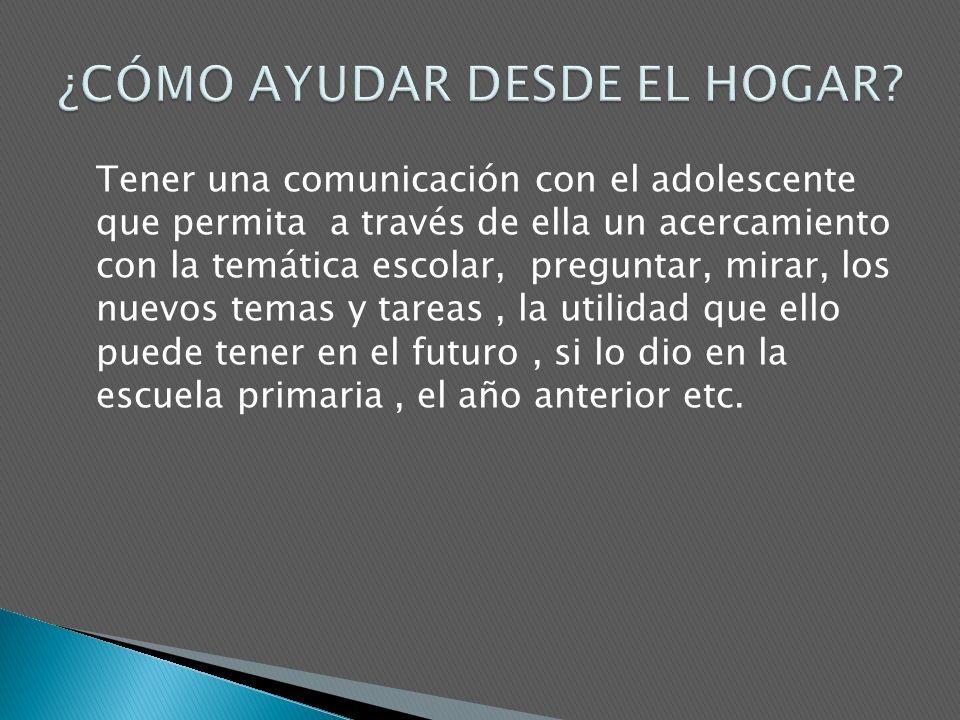 ¿CÓMO AYUDAR DESDE EL HOGAR