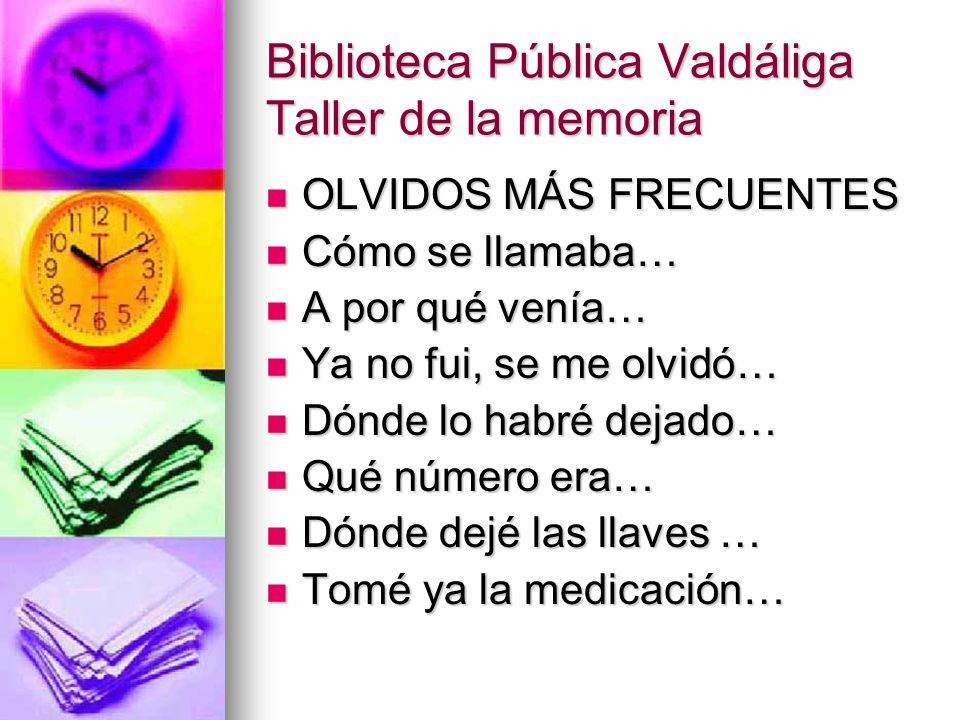 Biblioteca Pública Valdáliga Taller de la memoria