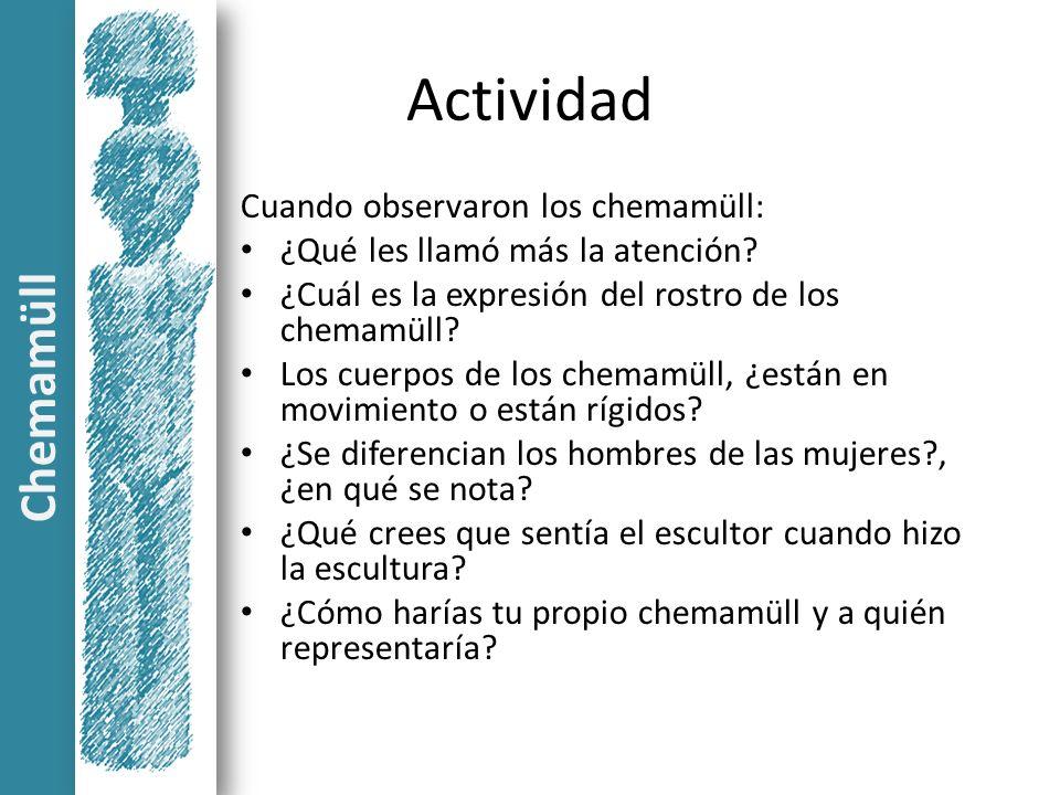 Actividad Chemamüll Cuando observaron los chemamüll: