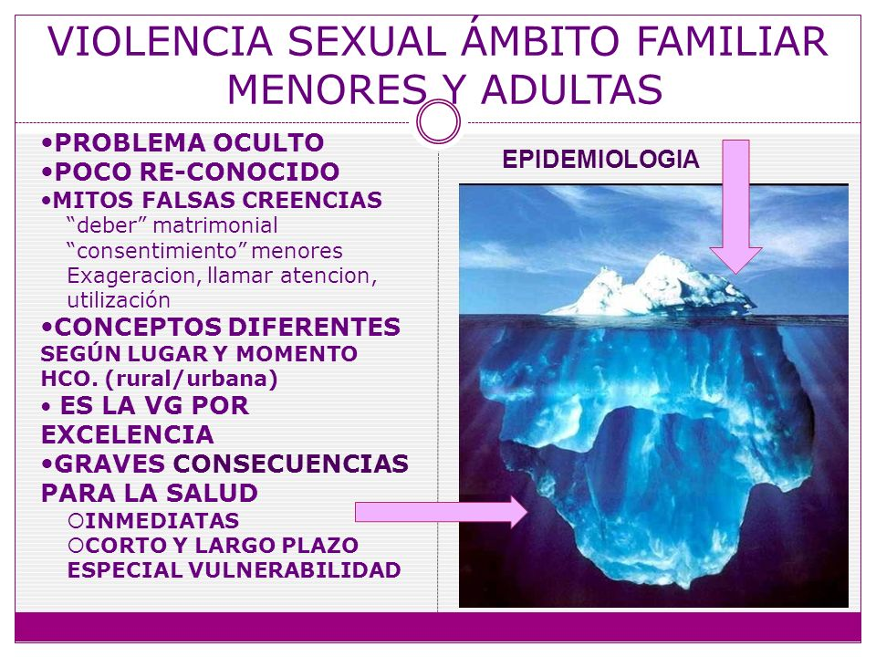 VIOLENCIA SEXUAL ÁMBITO FAMILIAR MENORES Y ADULTAS