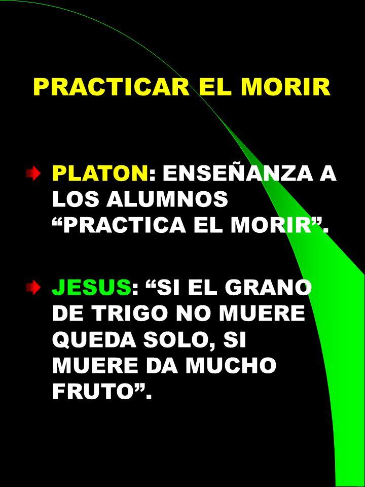 PRACTICAR EL MORIR PLATON: ENSEÑANZA A LOS ALUMNOS PRACTICA EL MORIR .