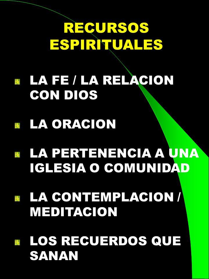 RECURSOS ESPIRITUALES