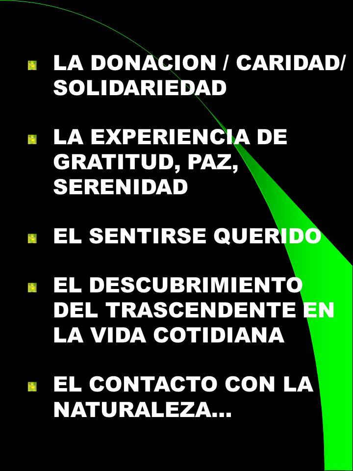 LA DONACION / CARIDAD/ SOLIDARIEDAD