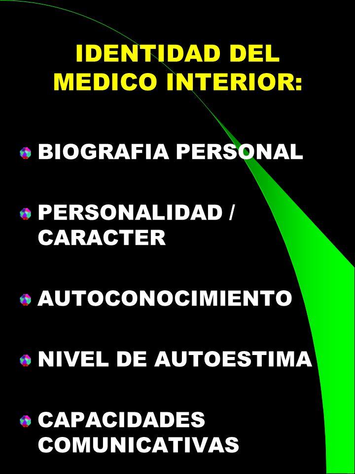 IDENTIDAD DEL MEDICO INTERIOR: