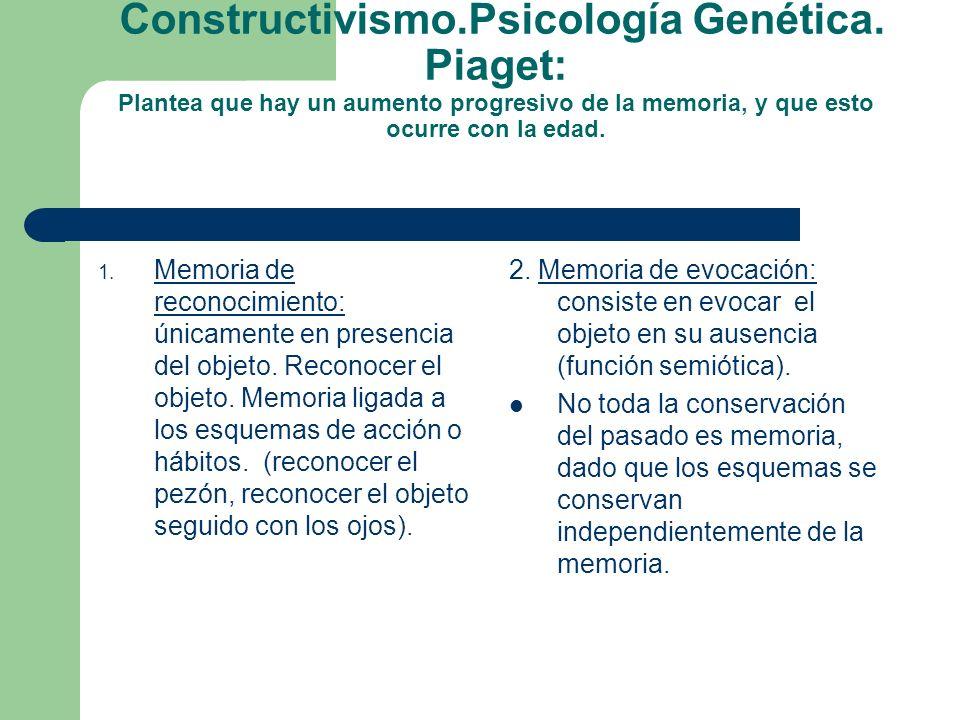 Constructivismo. Psicología Genética