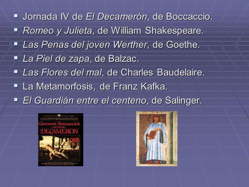 Jornada IV de El Decamerón, de Boccaccio.
