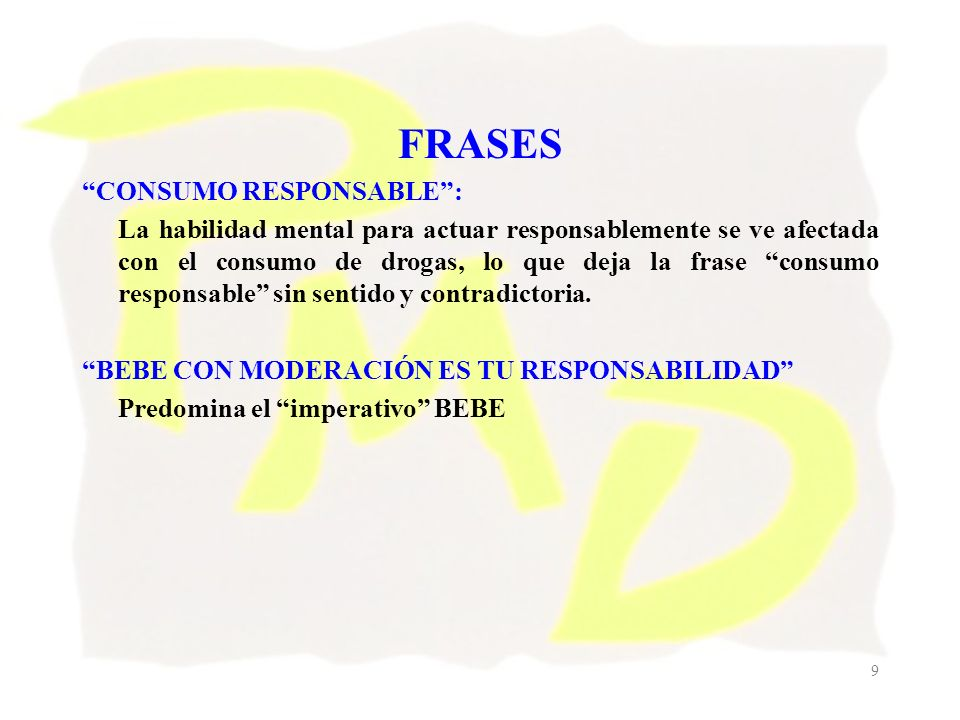 FRASES CONSUMO RESPONSABLE :