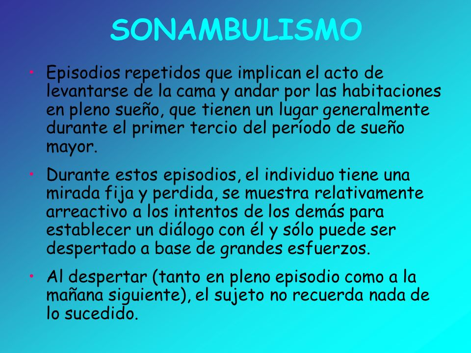 SONAMBULISMO