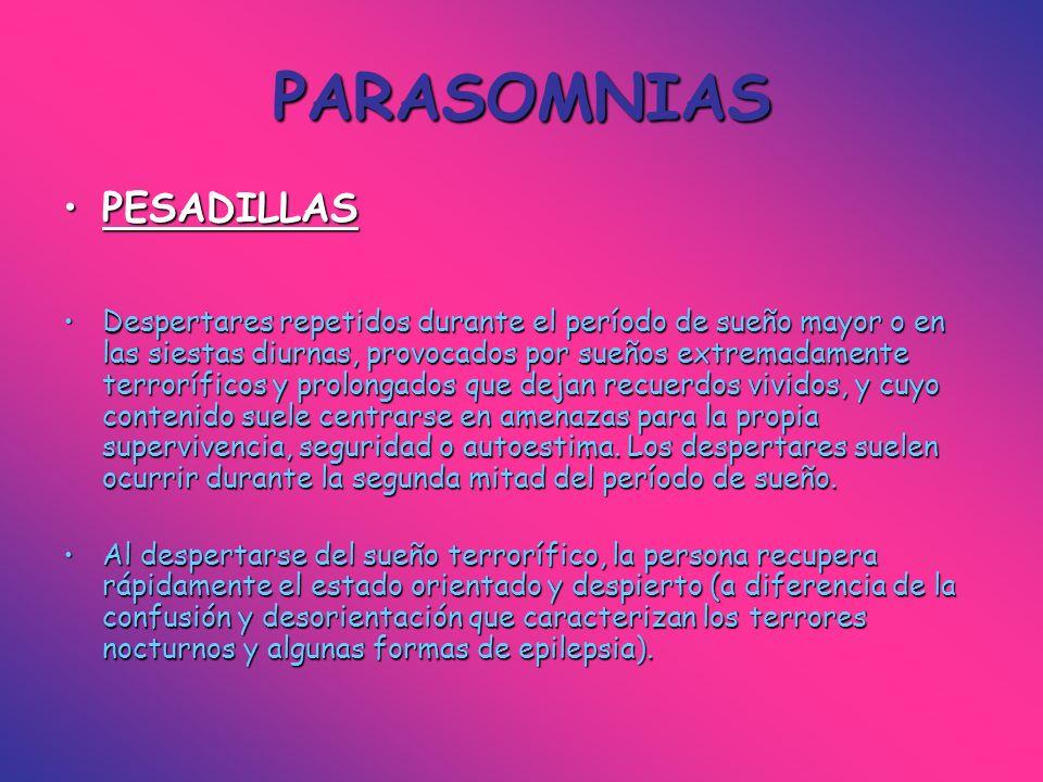 PARASOMNIAS PESADILLAS