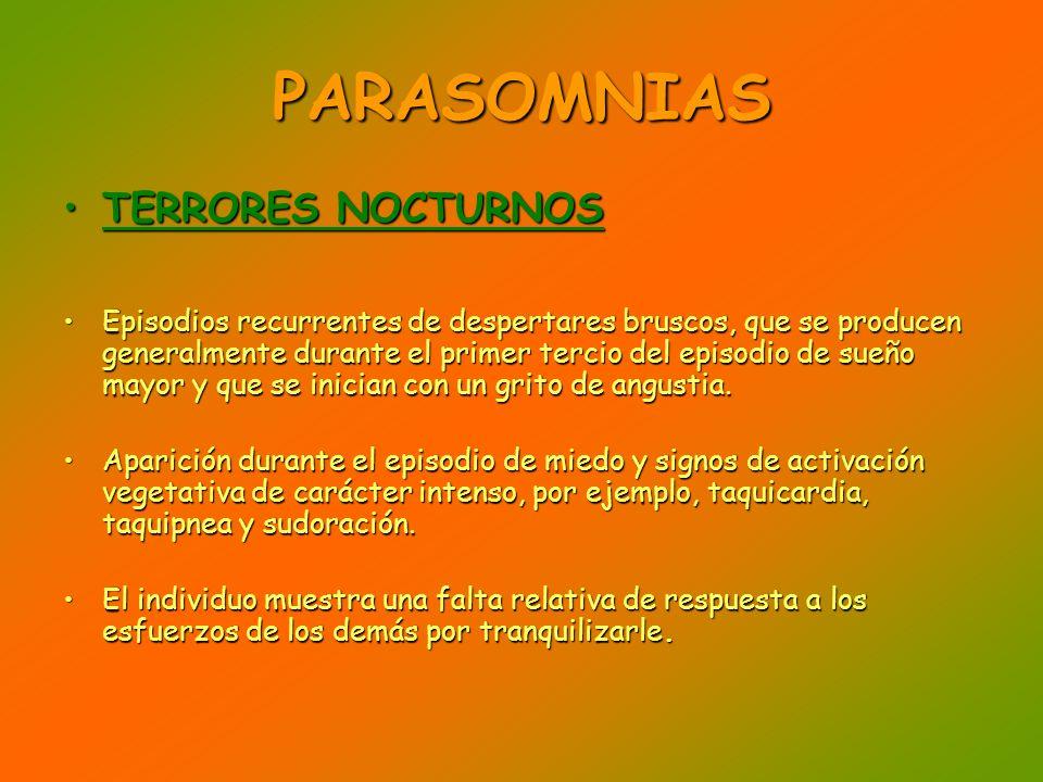 PARASOMNIAS TERRORES NOCTURNOS