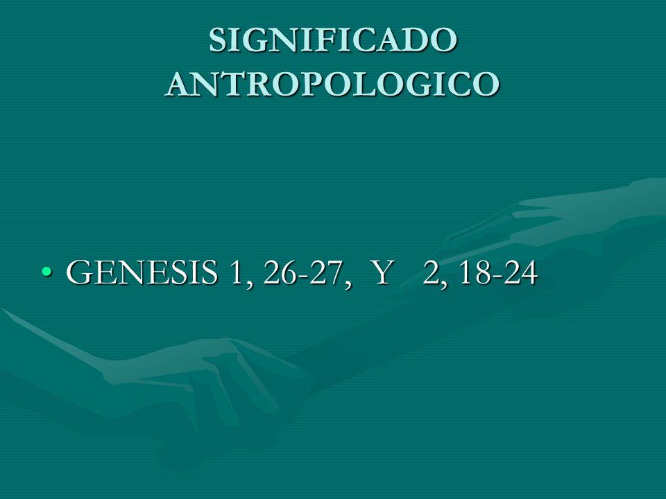 SIGNIFICADO ANTROPOLOGICO