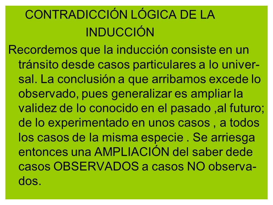 CONTRADICCIÓN LÓGICA DE LA
