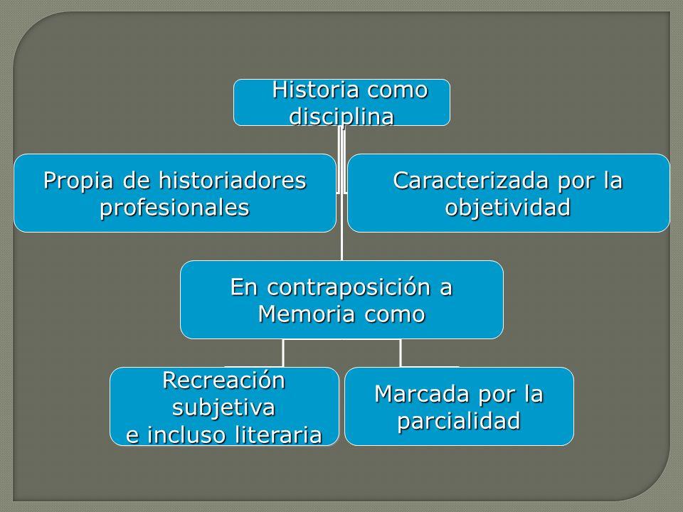 Historia como disciplina