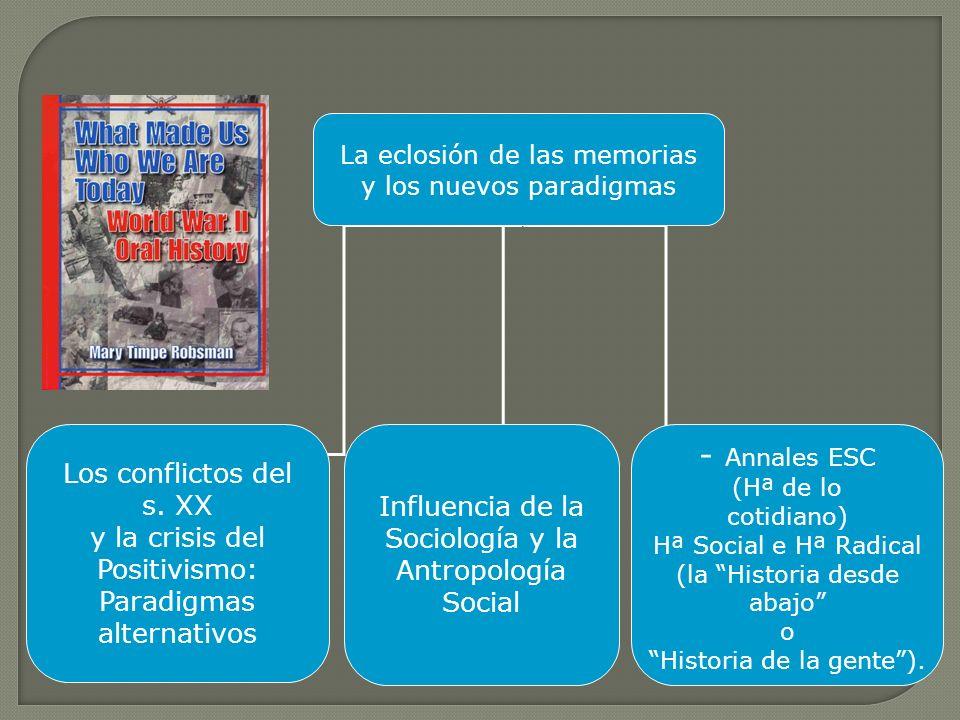 - Annales ESC Los conflictos del s. XX Influencia de la