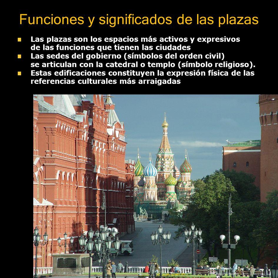 Funciones y significados de las plazas