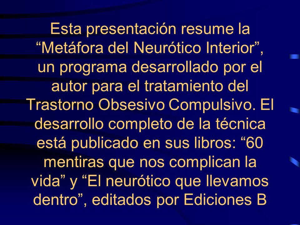 Esta presentación resume la Metáfora del Neurótico Interior , un programa desarrollado por el autor para el tratamiento del Trastorno Obsesivo Compulsivo.