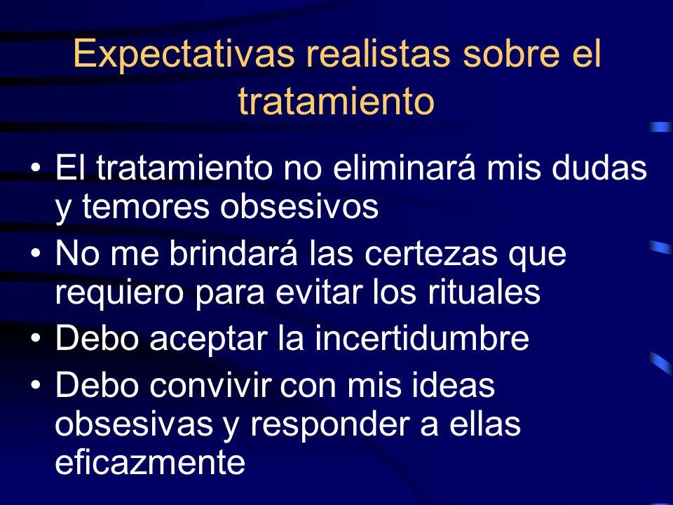 Expectativas realistas sobre el tratamiento