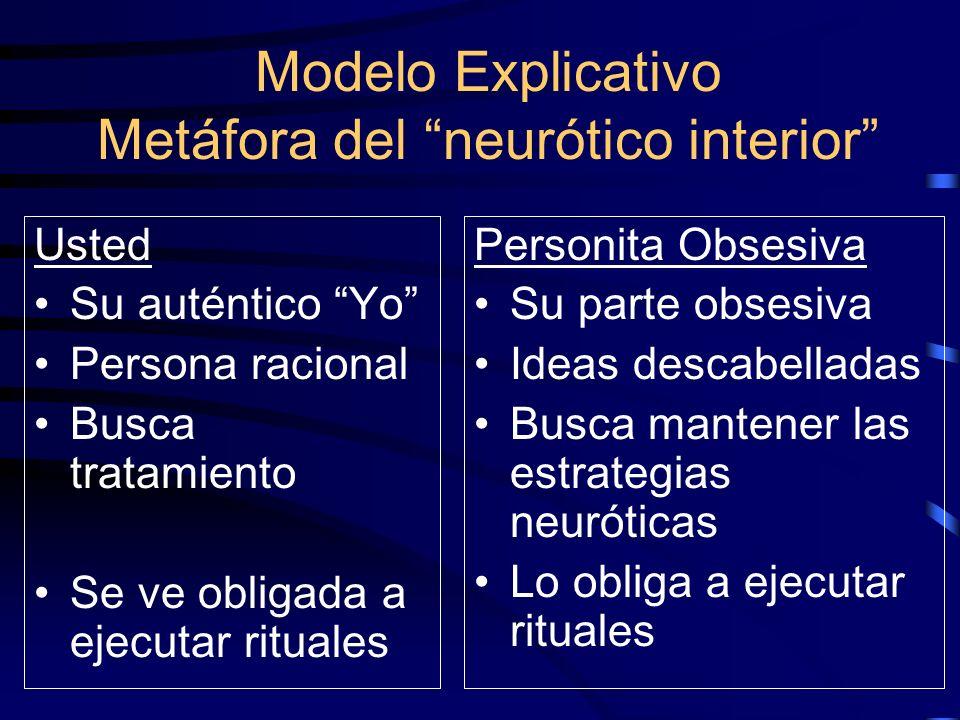 Modelo Explicativo Metáfora del neurótico interior