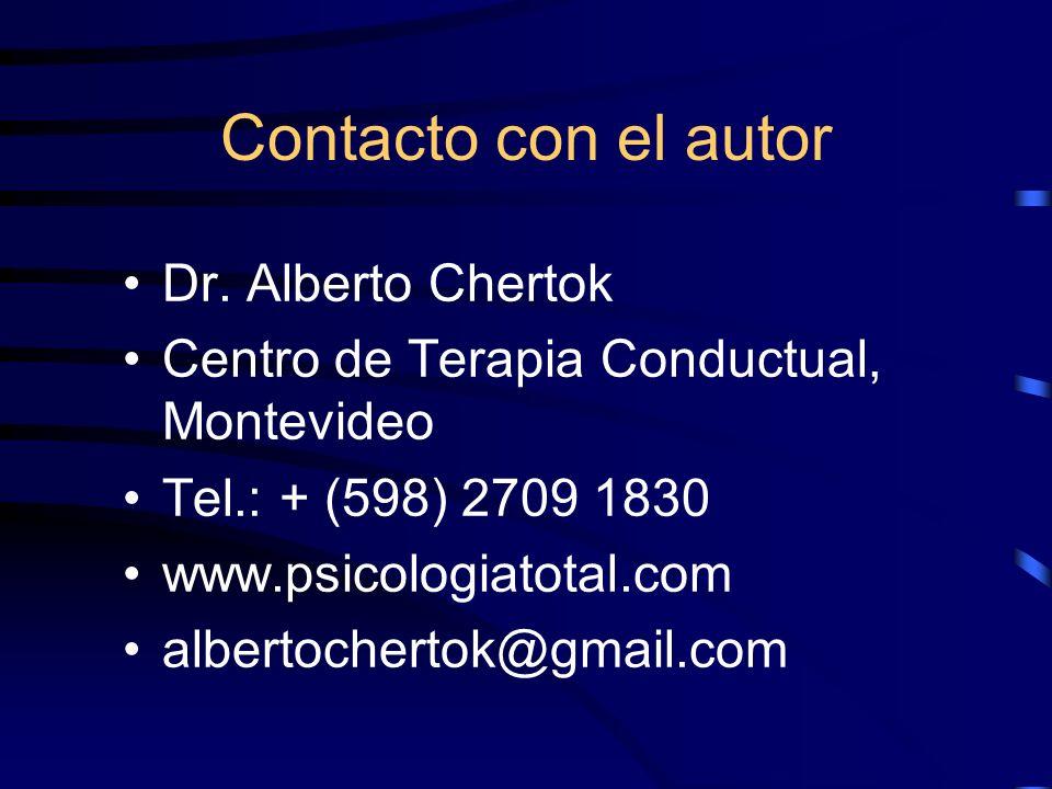 Contacto con el autor Dr. Alberto Chertok