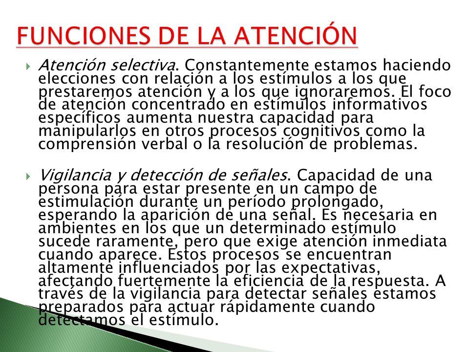 FUNCIONES DE LA ATENCIÓN