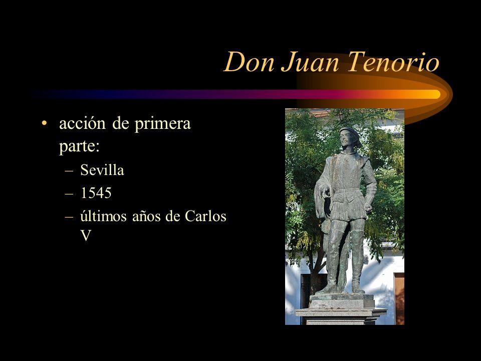 Don Juan Tenorio acción de primera parte: Sevilla 1545
